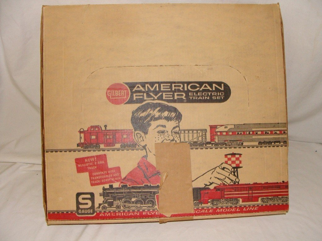 """15: AMERICAN FLYER FREIGHT """"The Champion"""" Train Set w/"""