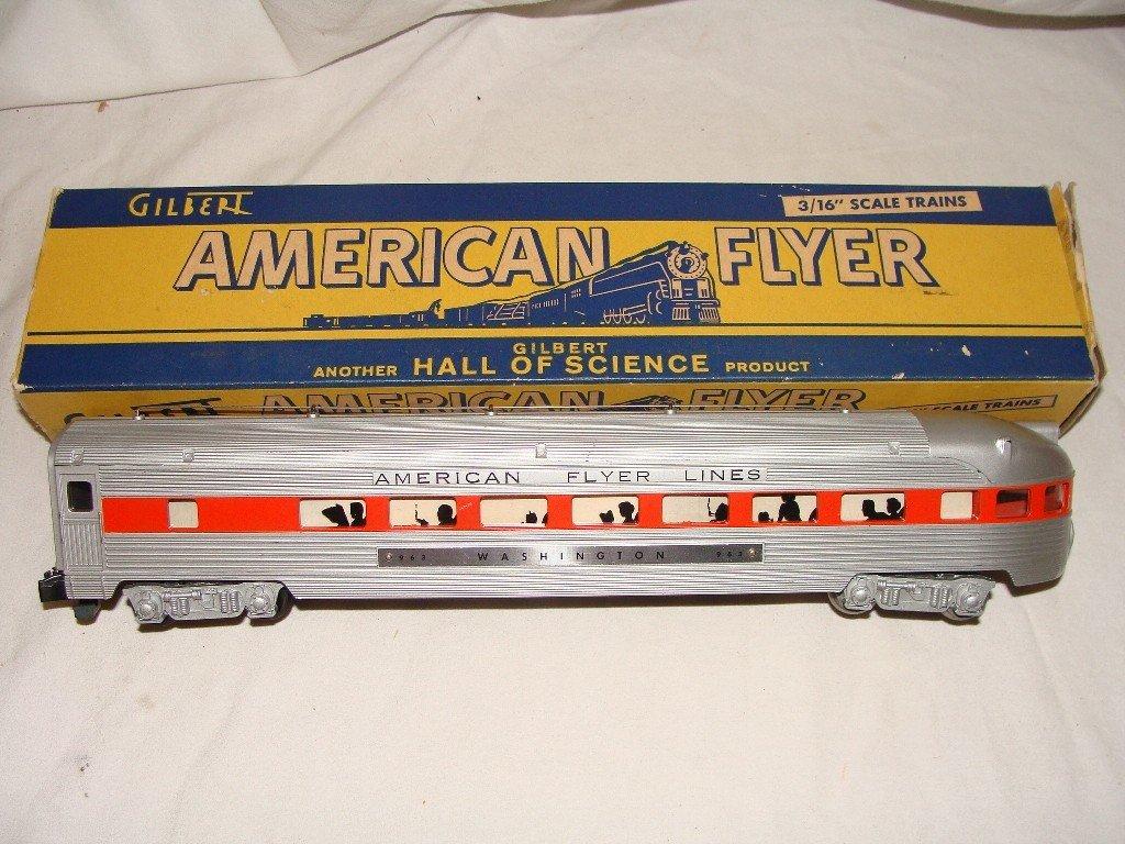 19: American Flyer 963 Washington Observation Car w/ Or