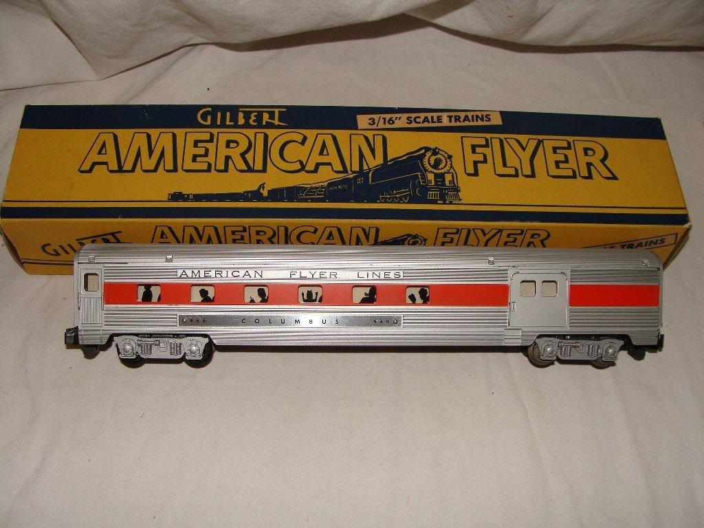 20: American Flyer Columbus 960 Baggage & Club Car w Or