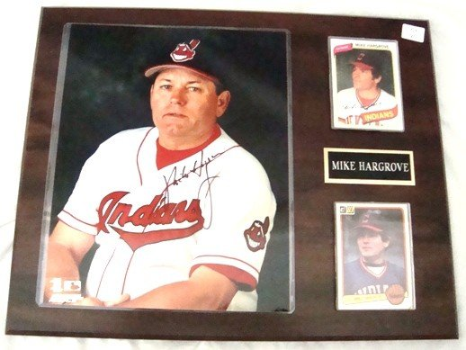 6: Mike Hargrove Autographed 8x10 Color Photo