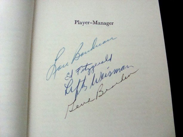 19: Player-Manager 1st Ed Signed (4) Boudreau, Bearden