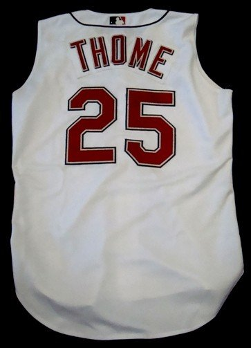 buy popular 96c7f e5957 46: Jim Thome Autographed Indians Jersey