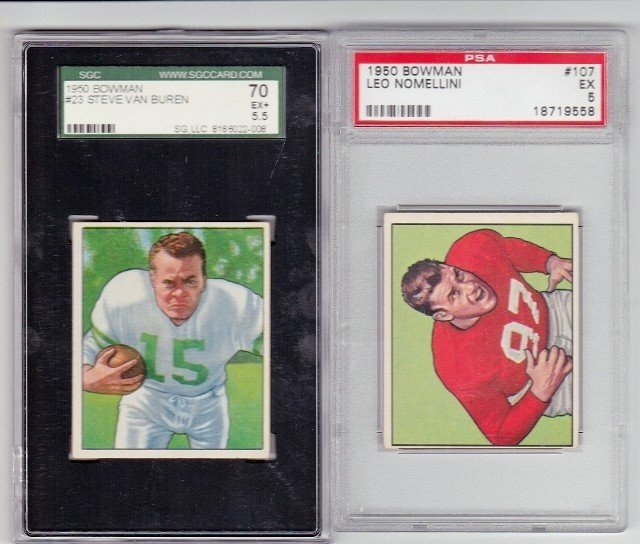 18: 1950 Bowman #23 Steve Van Buren SGC 70 EX+ 5.5 and