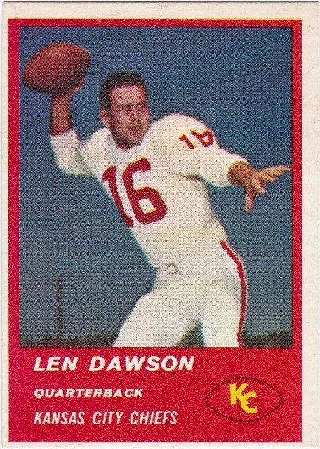 74: 1963 Fleer #47 Len Dawson RC NM