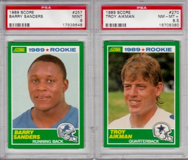 76: Lot of (2) 1989 Score Rookie Football Cards. #257 B