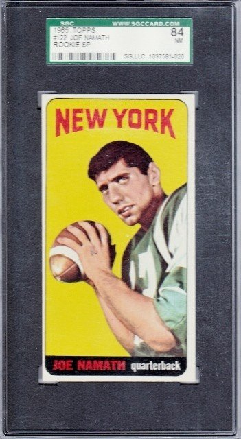 "100: 1965 Topps #122 Joe Namath RC SP ""Butterfly"" Varia"