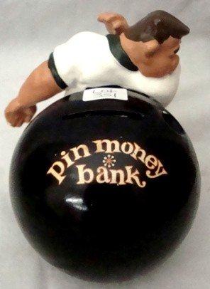 351: 1960's FAK Fred Kail Bowler Money Bank