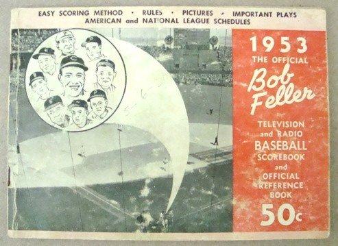 354: 1953 Official Bob Feller Scorebook