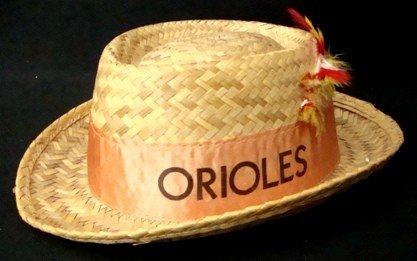357: 1940's/50's Baltimore Orioles Straw Fedora