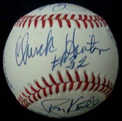 360: OAL Bobby Brown Signed Old Timers Baseball, JSA