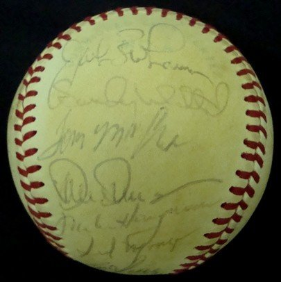 362: 1980 Cleveland Indians Team Signed Ball