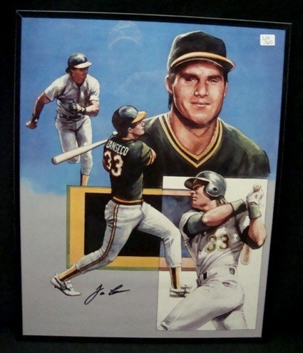 365: Jose Canseco Autographed 16x20 Print