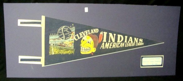 367: 1954 Cleveland Indians AL Champs Pennant