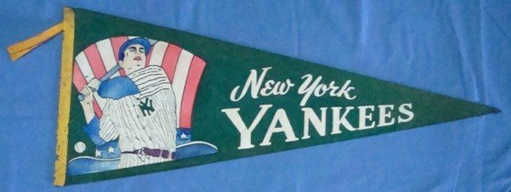 368: 1940's DiMaggio NY Yankees Pennant