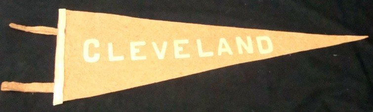 372: 1920's/30's Cleveland Pennant