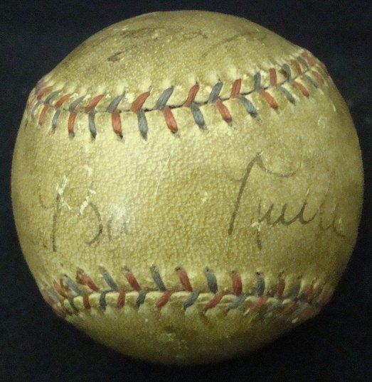 411: 1920's Baseball Stars Signed Ball, Ruth, Speaker,