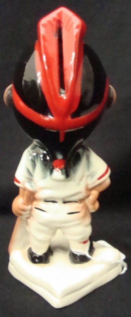 418: Cleveland Indians Stanford Pottery Gold Tooth Bank - 2