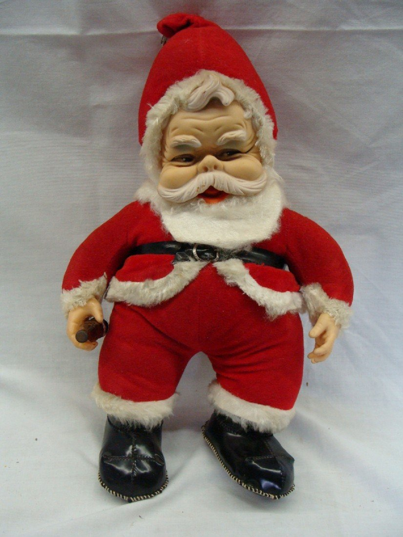 1: 1940's Coca Cola Santa Doll Sewn Boots and Bottle