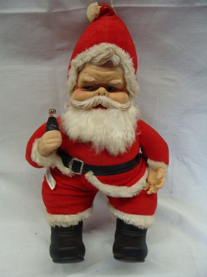 2: 1950's Coca Cola Ruston Santa Doll Black Boots