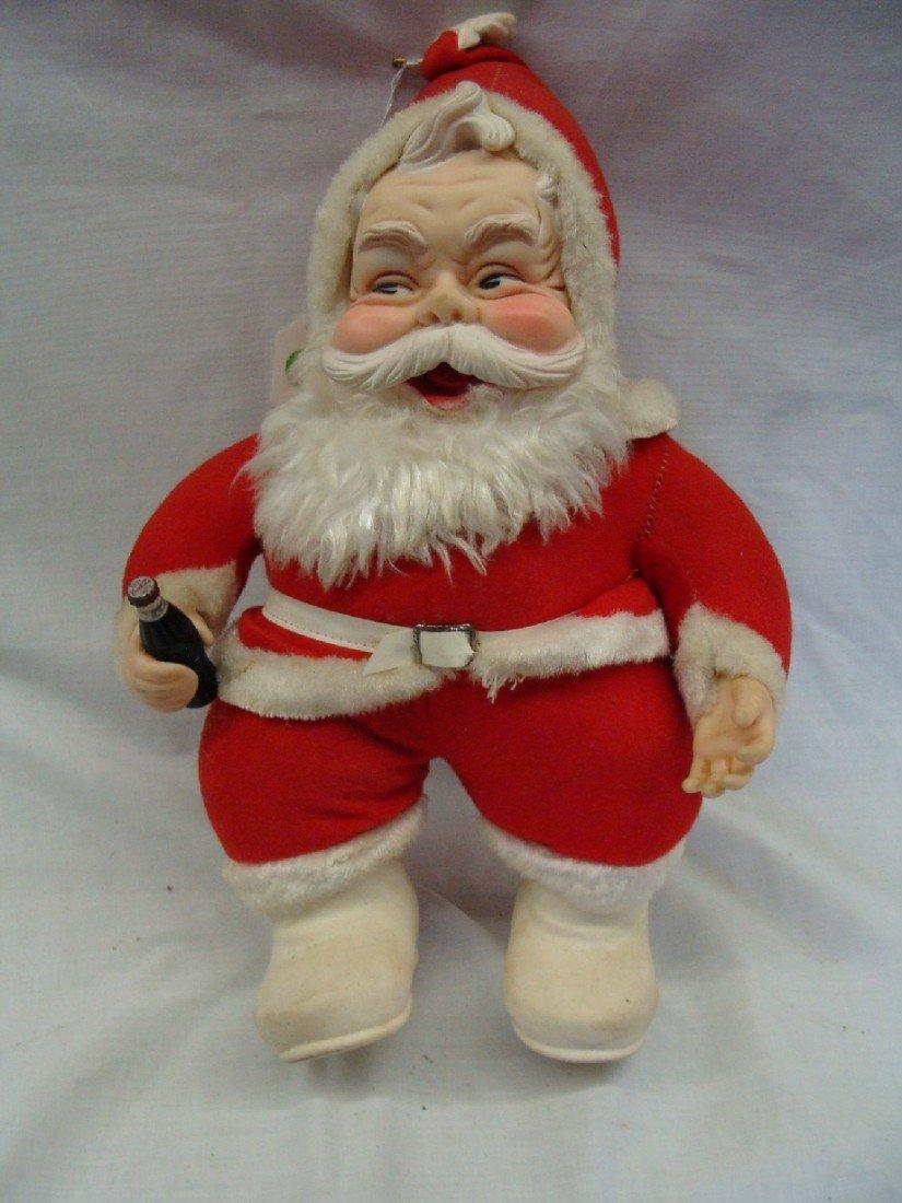 3: 1960's Coca Cola Rushton Santa Doll White Boots