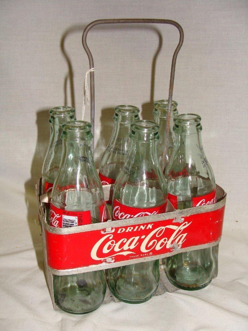 4: Early 1950's Aluminum 6 Pack Bottle Carrier Coke