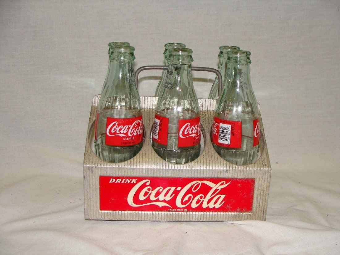 5: 1950's Aluminum 6 Pack Coke Bottle Carrier Coca-Cola