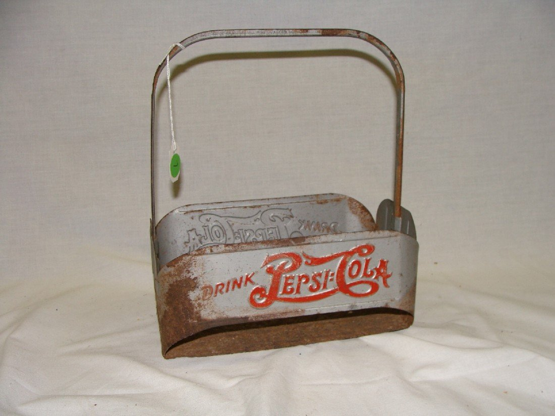 7: Early 1950's Pepsi- Cola Aluminum 6 Pack Bottle Carr
