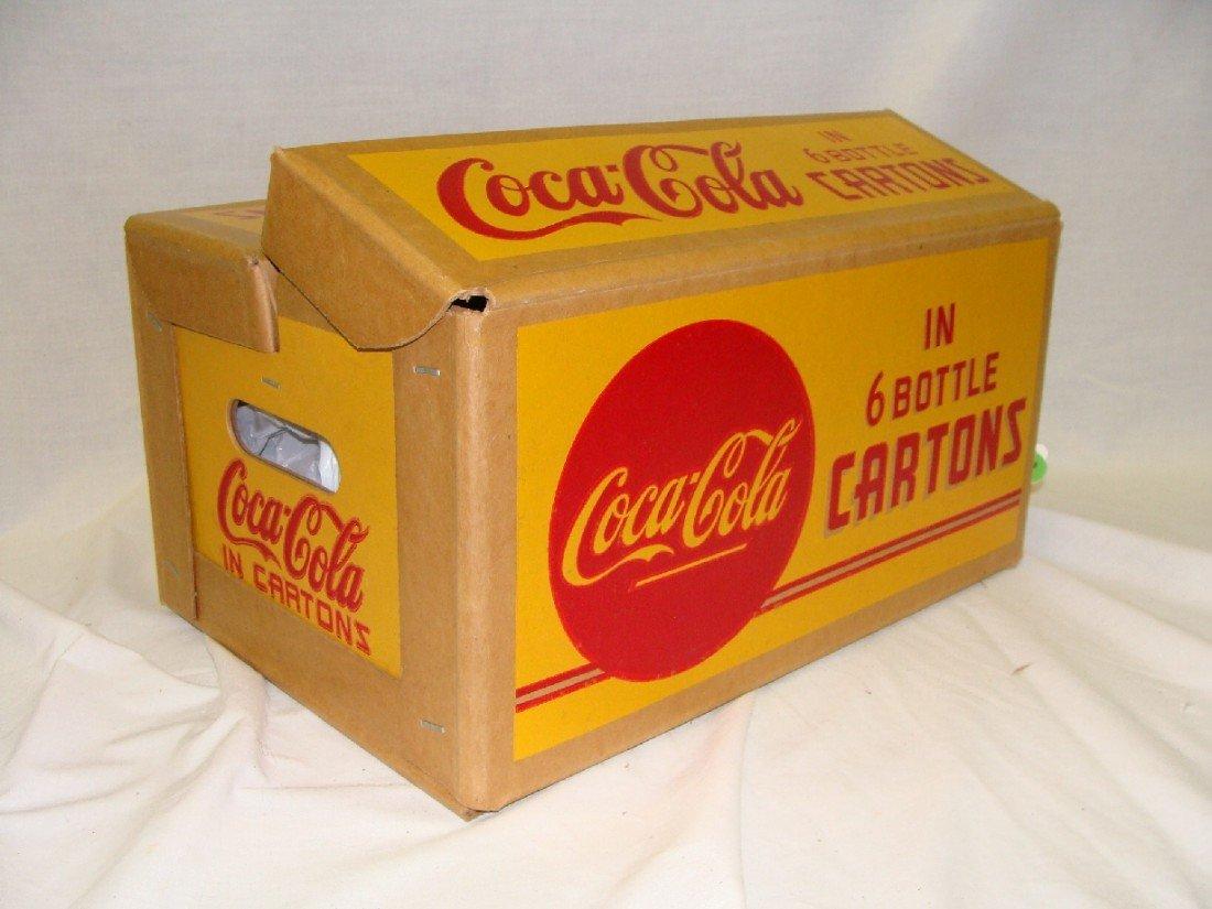 10: 1940's YELLOW Cardboard Coca-Cola 6 Bottle Carton C