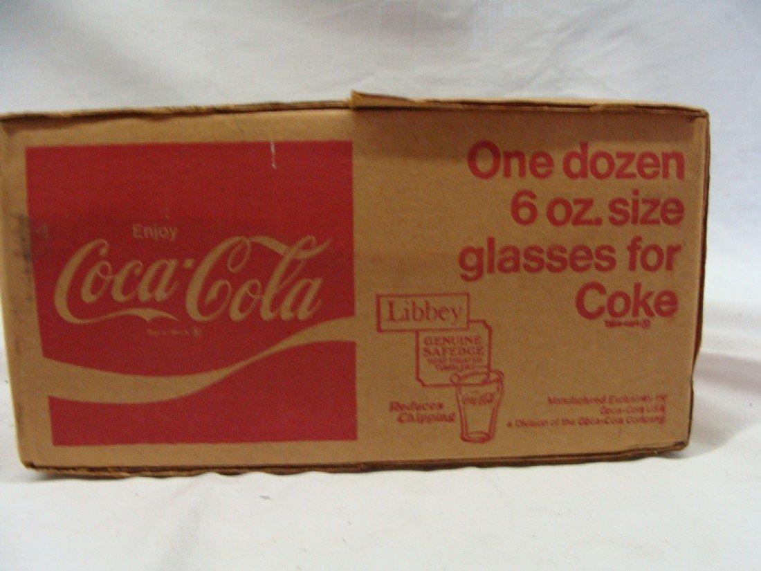 19: 1960's Unopened LIBBY Box Coca-Cola 6 oz Drinking G