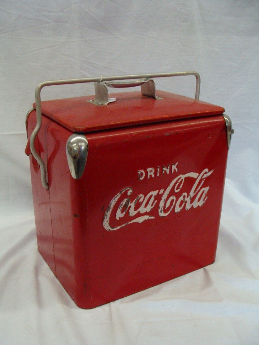 22: 1958 Acton Coca-Cola Cooler Rare Junior #10 Size