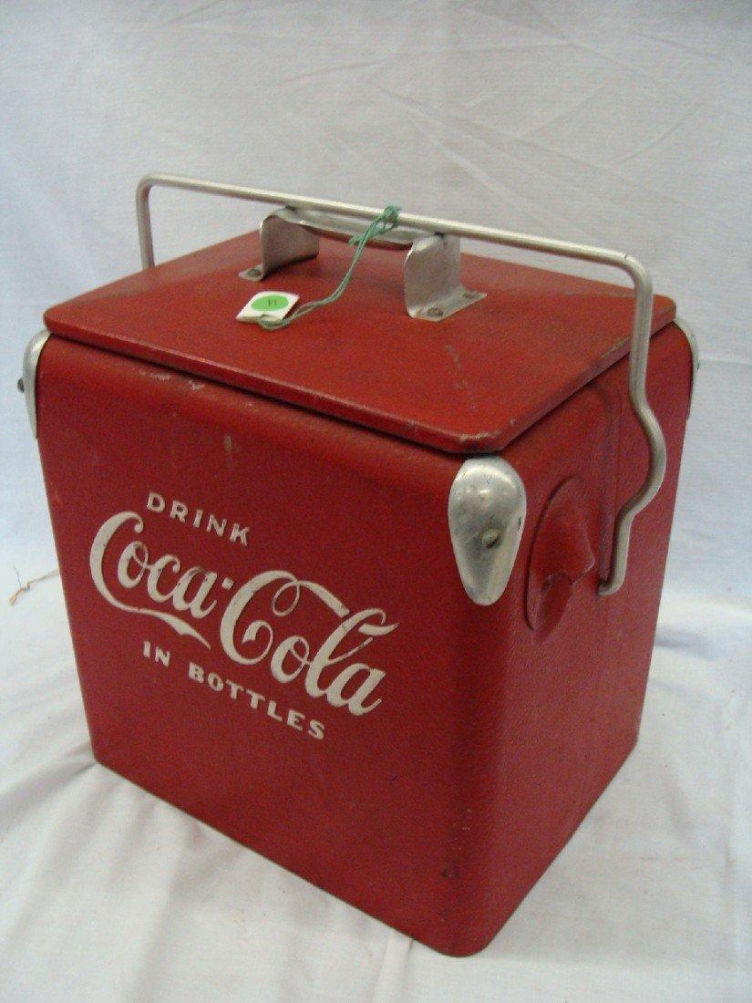 """23: 1958 Acton Coca-Cola Cooler  Junior #10 Size """"Drink"""