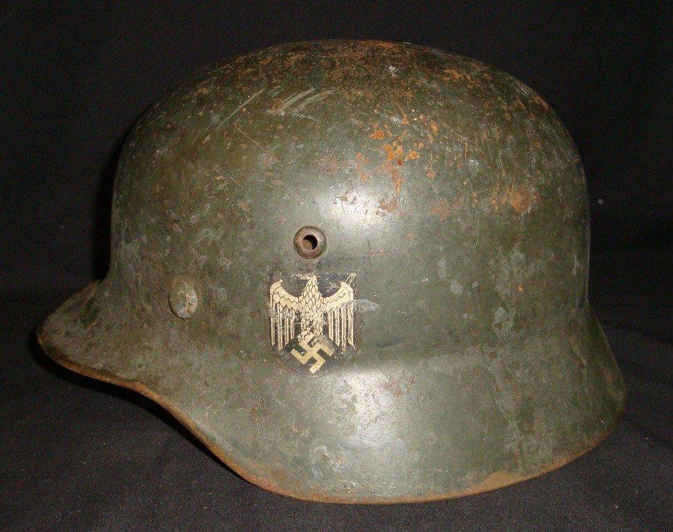 367: WWII Nazi M42 Military Helmet