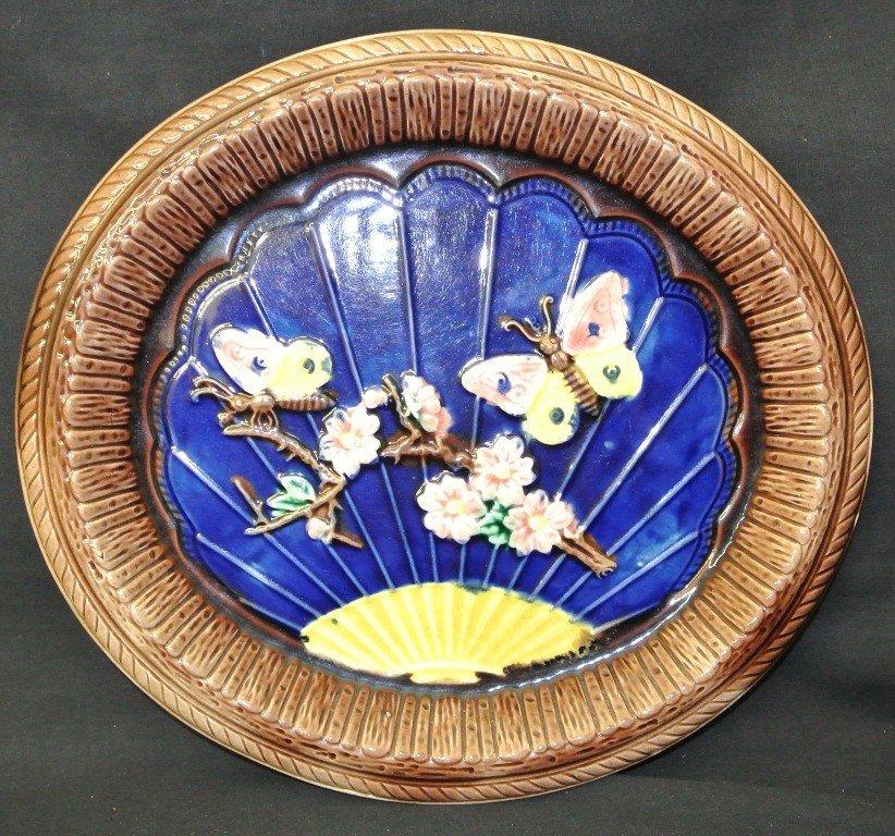 605: Majolica Butterfly Platter