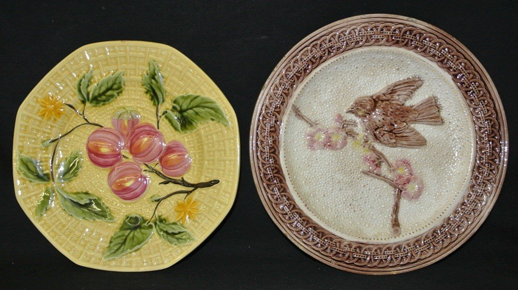 606: Pair of Majolica Dishes