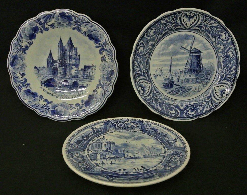 615: Three 1950's Delft Plates