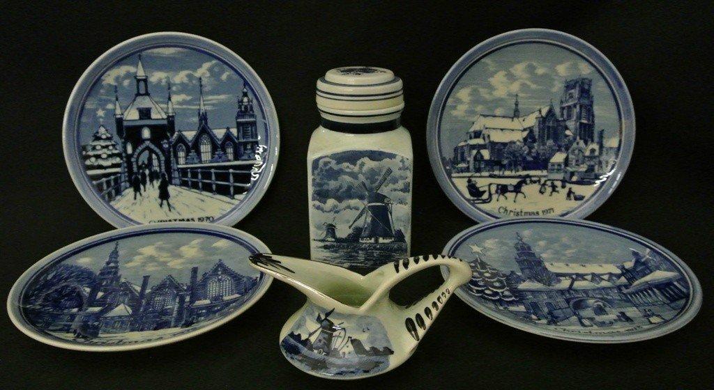 616: Lot of (6)Delft Pieces