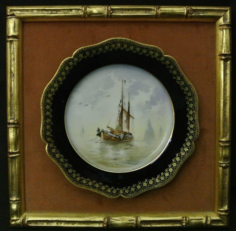 619: W.Guerin Handpainted Limoge Plate