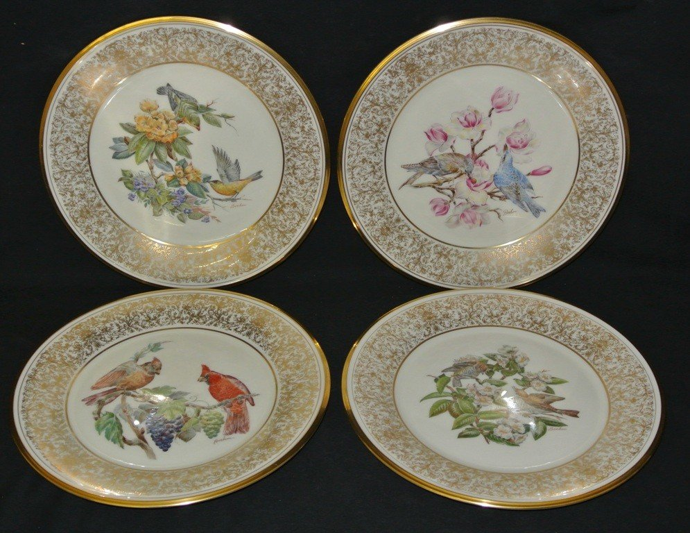 623: Four Lenox Boehm Bird Plates