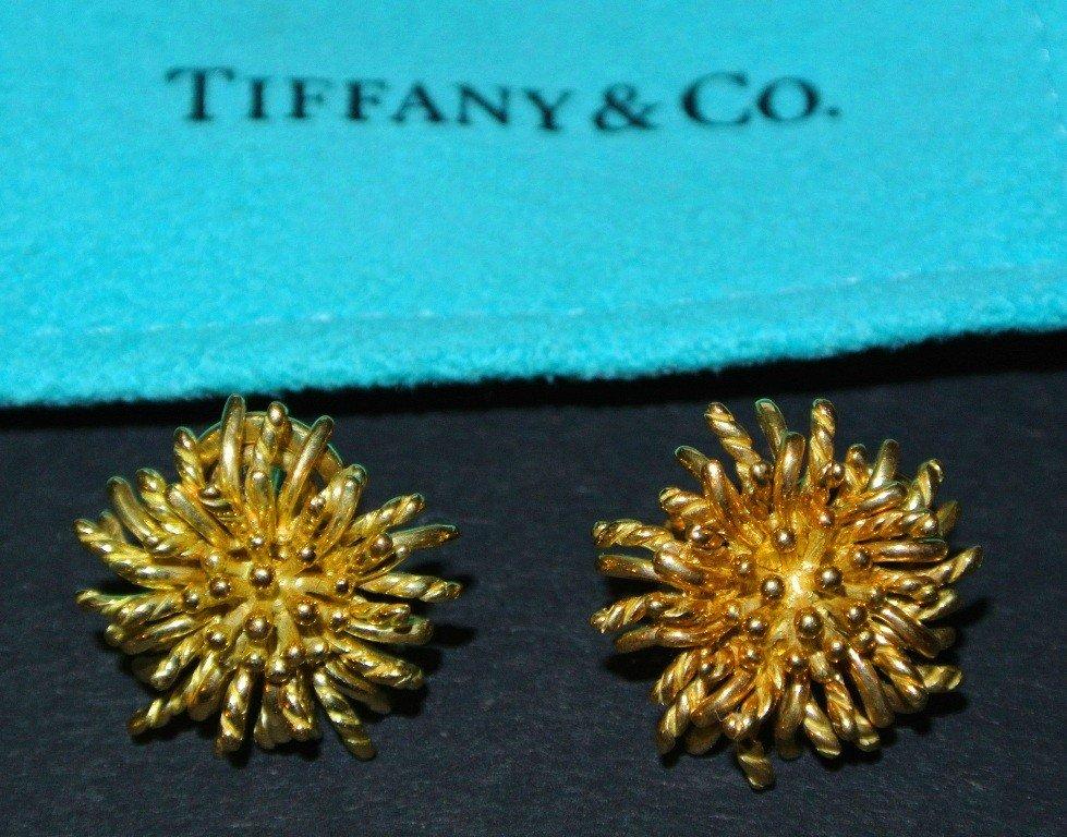 649: Pair of 18k Gold Tiffany & Co. Earrings