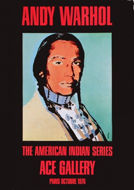 701: Andy Warhol 1976 American Indian Poster