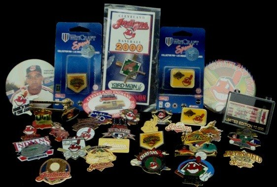 2: Cleveland Indians Commemorative Pin Back Collection