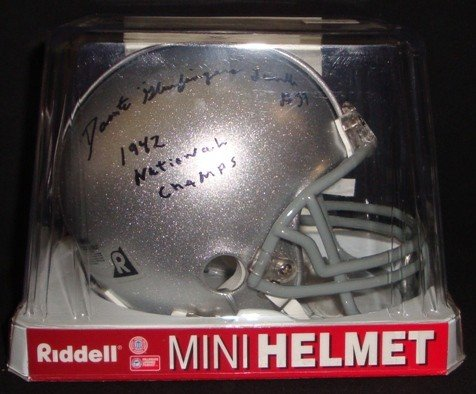 12: Dante Lavelli Signed & Inscribed OSU Mini Helmet, J