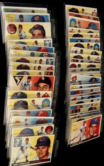 24: 1955 Topps Baseball Card Lot, Tanner, Hegan