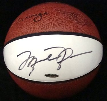 best value ebca2 9b258 117: Michael Jordan Autographed Mirage Basketball, UDA