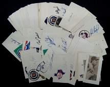 159 Lot of 100 Autographed Baseball Index Cards JSA