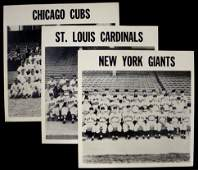 164: Cubs, Cardinals, Giants Vintage Team Photos