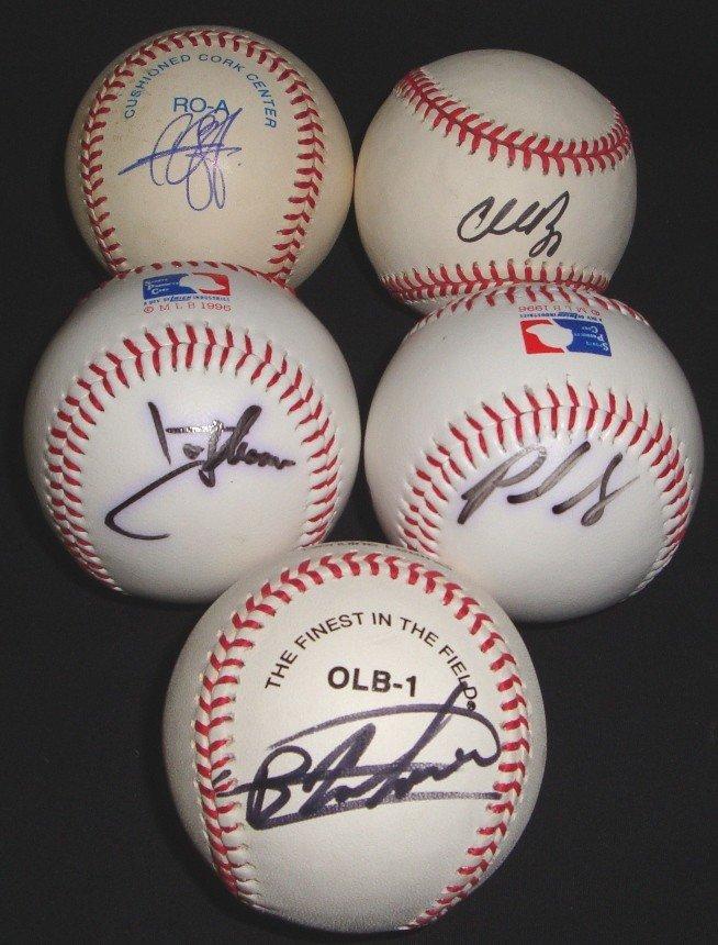 450: (5) Signed Indians Baseballs, Nagy, Sabathia