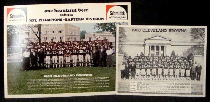 462: 1965-66 Cleveland Browns Team Photos