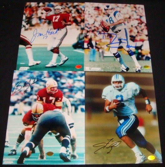 463: (4) Star Quarterback 8x10 Signed Photos, Couch