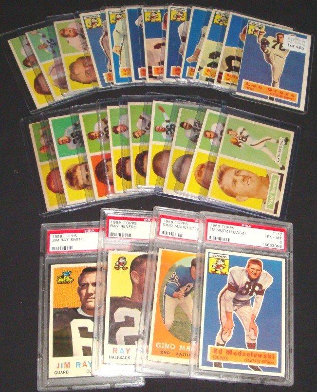 466: 1956-59 Topps Football Card Lot